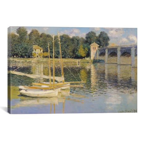 """The Bridge at Argenteuil, 1874 (18""""W x 12""""H x 0.75""""D)"""