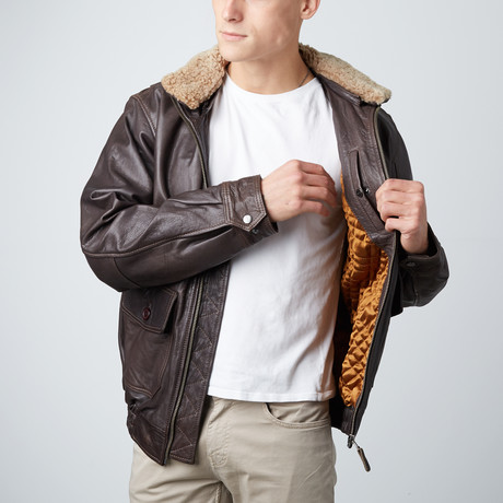 Aviateur Jacket // Brown