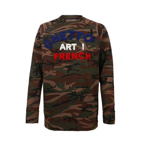 Ghetto Art! French Fleece // Camo Green