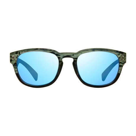 Zinger // Matte Black Ice + Blue Water Lens
