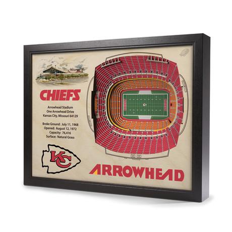 Kansas City Chiefs // Arrowhead Stadium (5-Layer)
