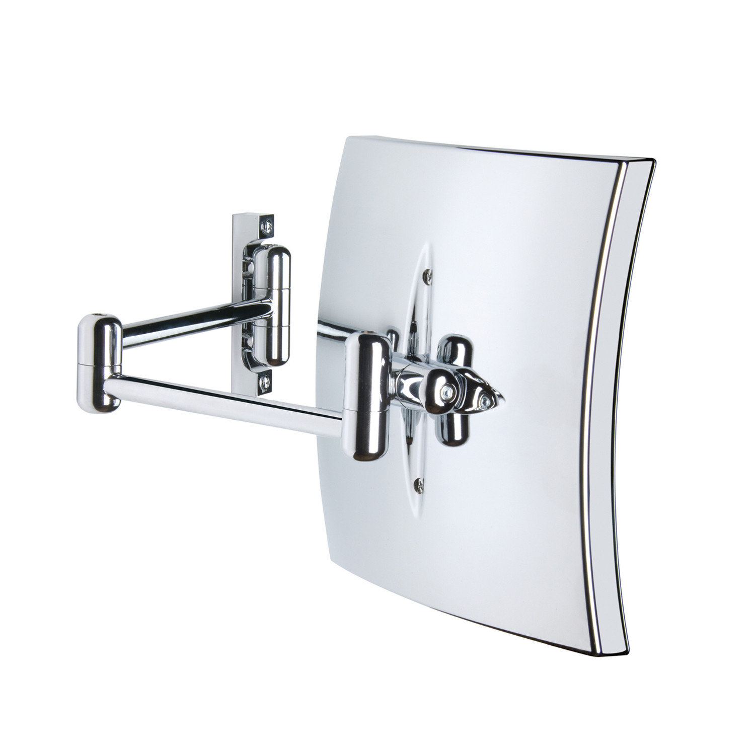 Led lighted wall mounted magnifying mirror ws bath for Wall mounted extendable mirror bathroom
