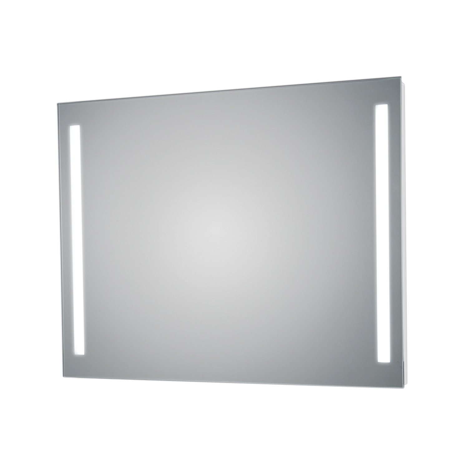 Lighted Bathroom Wall Mirror Large: Side LED Lighted Bathroom Wall Mirror