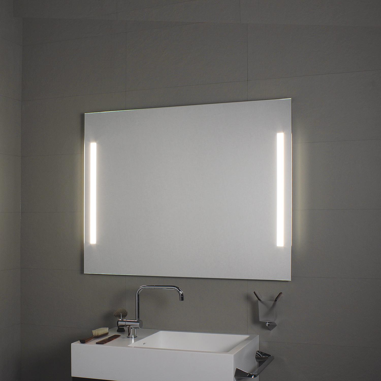 Side LED Lighted Bathroom Wall Mirror