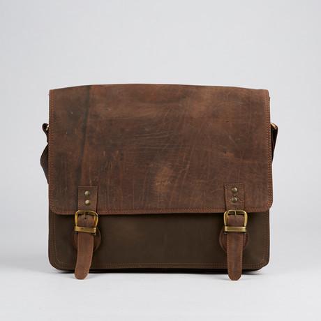 Vintage Distressed Messenger Bag