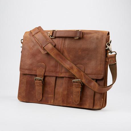 Distressed Messenger Bag