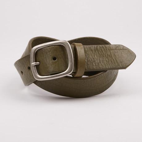 Smith 1.5 Leather Belt // Olive