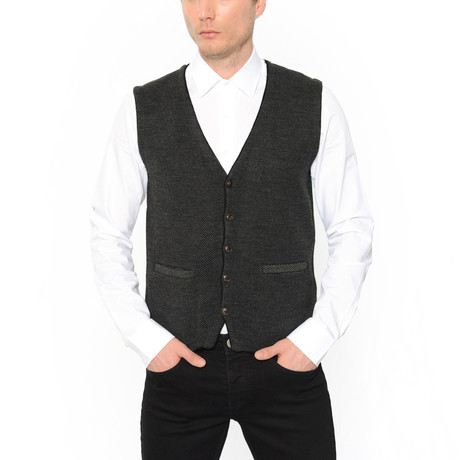 Classic Tricot Vest // Black