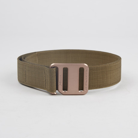 Ti Hook Copper Anodized Aluminum Buckle + Coyote Brown Strap (Small)