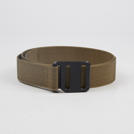 Ti Hook Black Anodized Aluminum Buckle + Coyote Brown Strap (Small)