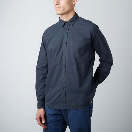 Woven Long-Sleeve Shirt // Sea Urchin (L)