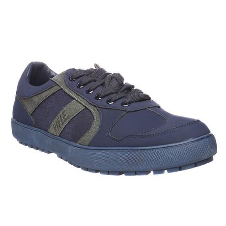 Blair Low-Top Sneaker // Blue + Grey