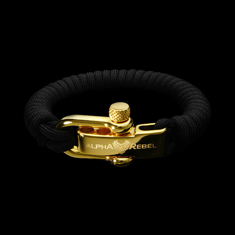 KCUF Slim Luxury Paracord Bracelet // 24K Gold (Large)