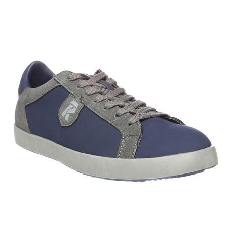 Kobin Low-Top Sneaker // Blue + Dark Grey