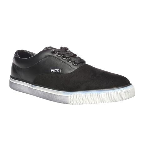 Zachary Suede Cap Sneaker // Black