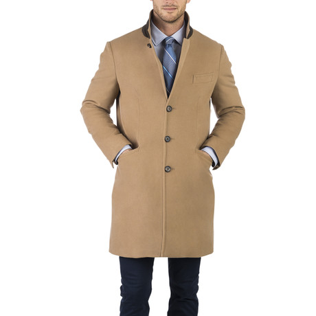 Merino 3-Button Topcoat // Camel (S)