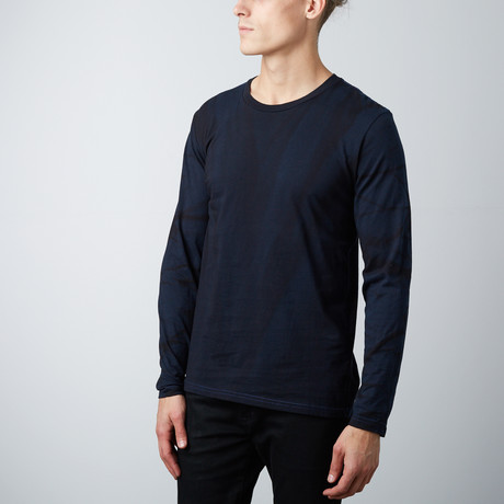Crew Neck Long-Sleeve Tee // Vintage Royal Blue (S)