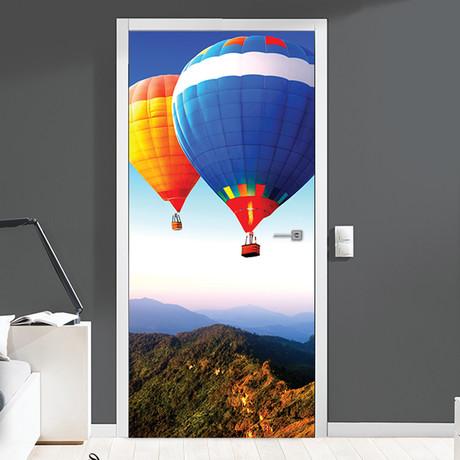 Hot Air Balloon Adventure // Door Mural