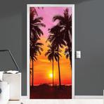 Tropical Sunset // Door Mural