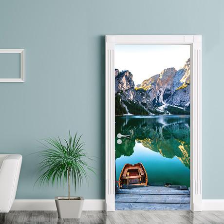 Mountain Lake // Door Mural