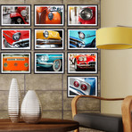 Vintage Cars Collage Mural