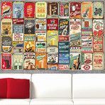 Party Metal Signs Collage Mural