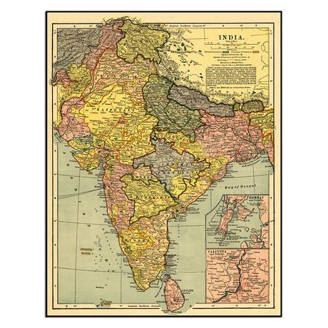 """India (9""""W x 11.5""""H)"""