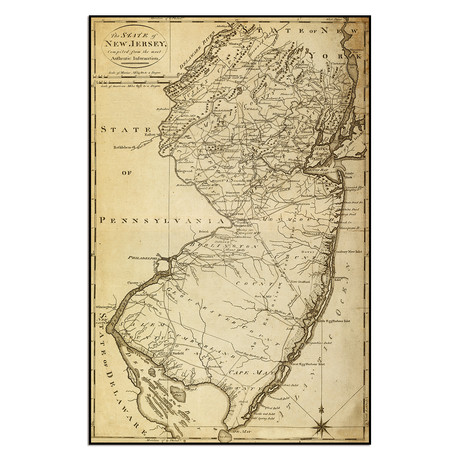 """The State of New Jersey (9""""W x 13.75""""H)"""