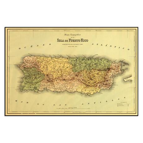 """Isla de Puerto Rico, 1886 (13.5""""W x 9""""H)"""