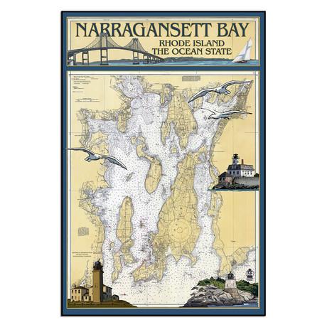 "Narragansett Bay (9""W x 13.5""H)"