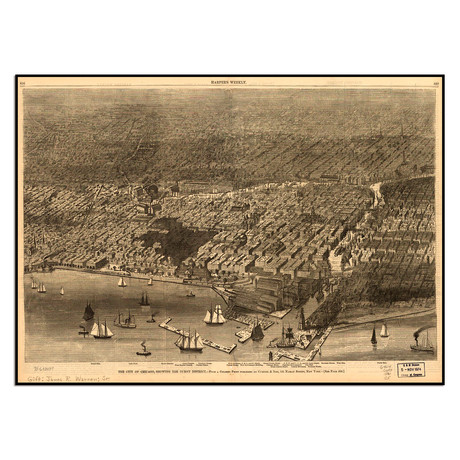 Chicago Burnt District, 1874