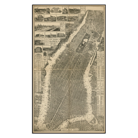 "The City of New York Map, 1879 (7.75""W x 13.75""H)"