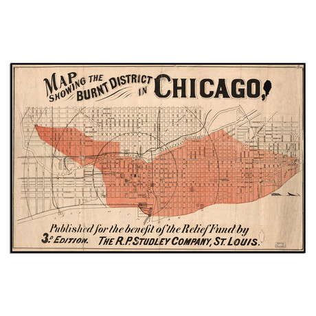 Map Showing the Burnt District in Chicago