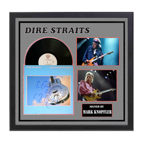 Autographed 'Brothers In Arms' Album Collage // Dire Straits