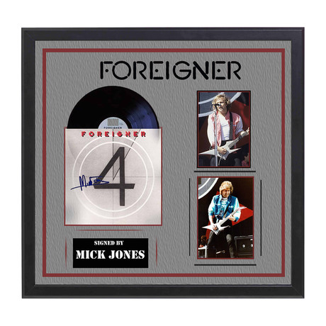 Autographed '4' Album Collage // Foreigner