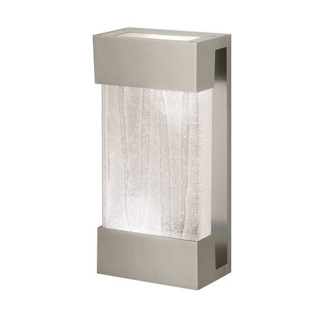 """Crystal Bakehouse Sconce // Linear Silver (14"""")"""