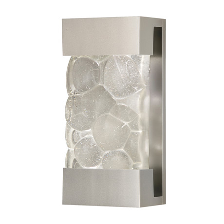 """Crystal Bakehouse Sconce // Pebble Silver (14"""")"""