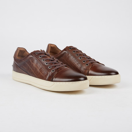 Bernes Low-Top Sneaker // Cognac