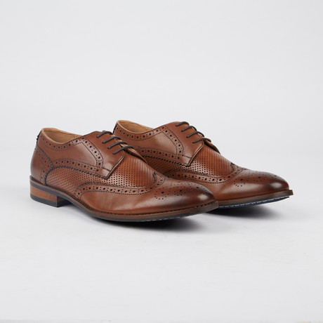 Milburne Wing-Tip Derby // Brown (US: 7)