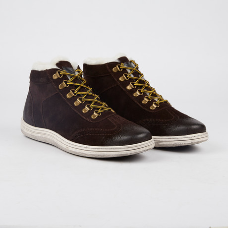 Rowe Lined Lace-Up Sneaker // Brown (US: 7)