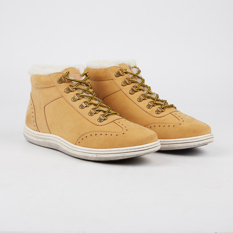 Rowe Lined Lace-Up Sneaker // Wheat (US: 7)