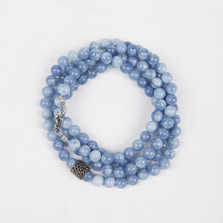 Healing Stone 2-In-1 Necklace + Wrap Bracelet // Quartz