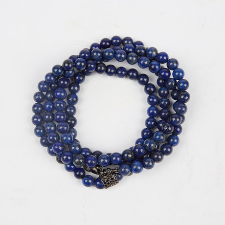 Healing Stone 2-In-1 Necklace + Wrap Bracelet // Lapis Lazuli