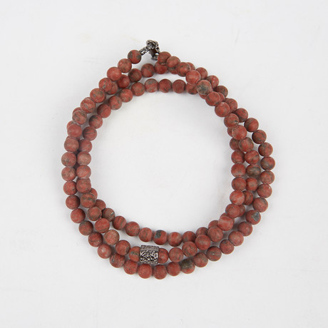 Healing Stone 2-In-1 Necklace + Wrap Bracelet // Sesame Jasper (S)