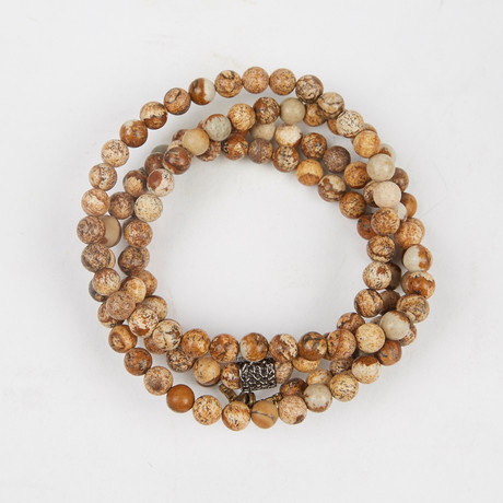 Healing Stone 2-In-1 Necklace + Wrap Bracelet // Picture Jasper