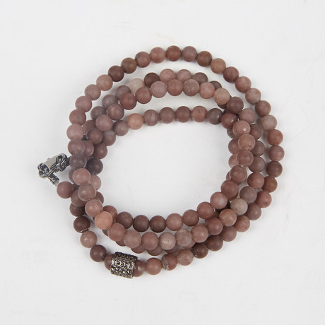 Healing Stone 2-In-1 Necklace + Wrap Bracelet // Purple Aventurine