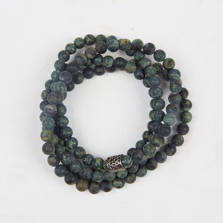 Healing Stone 2-In-1 Necklace + Wrap Bracelet // Rhyolite Jasper