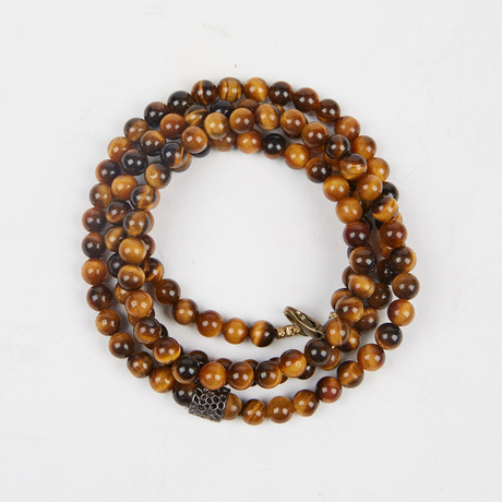 Healing Stone 2-In-1 Necklace + Wrap Bracelet // Tiger Eye (S)