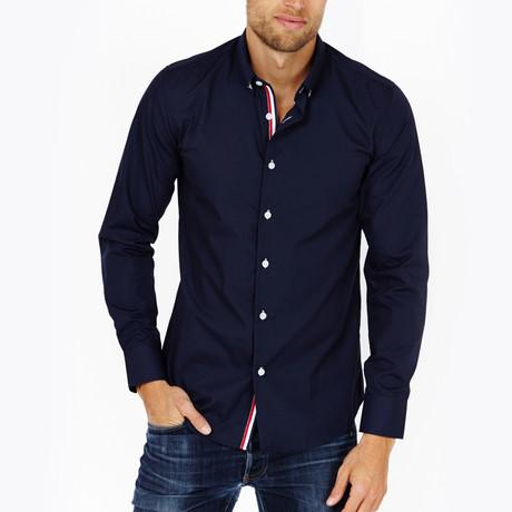 Benjamin Button-Up Shirt // Navy (S)