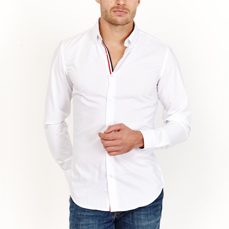 Ludovic Button-Up Shirt // White (S)